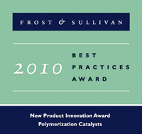 Frost & Sullivan社 2010年度 Best Practices Award